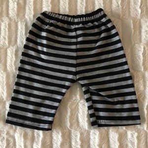 The cutest black and grey striped shorts